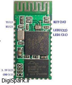آموزش ساده راه اندازی ماژول بلوتوث HC-05