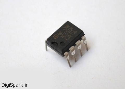 مدار تست زمان واکنش انسان با IC55 -دیجی اسپارک