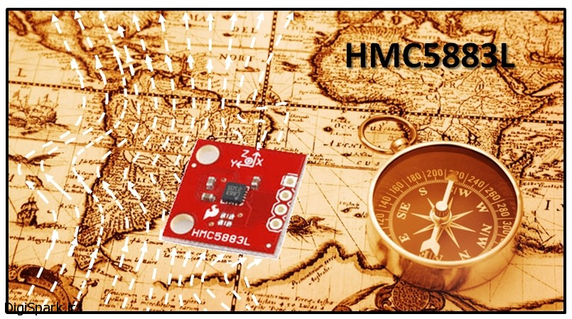 آموزش راه اندازی ماژول gy271 hmc2883 با استفاده از آردوینو