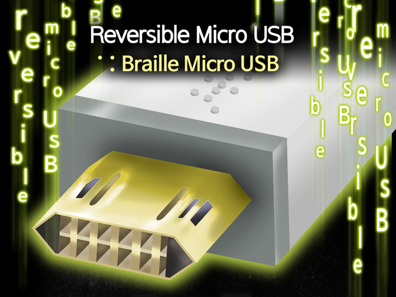 کابل Micro-USB برگشت پذیر