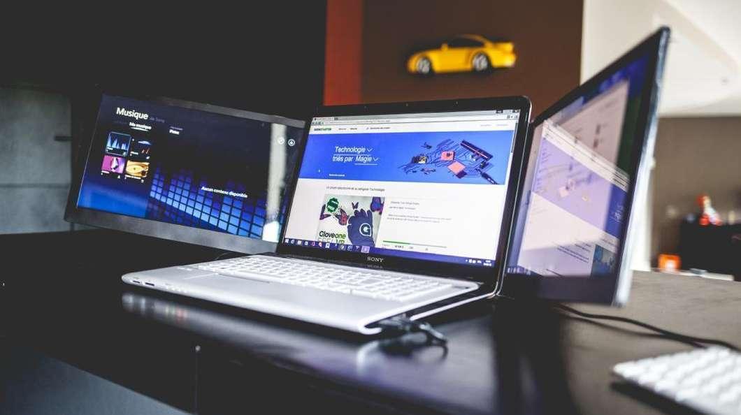 Sliden'Joy از صفحه نمایش لپ تاپ شما سه نمایشگر می سازد.