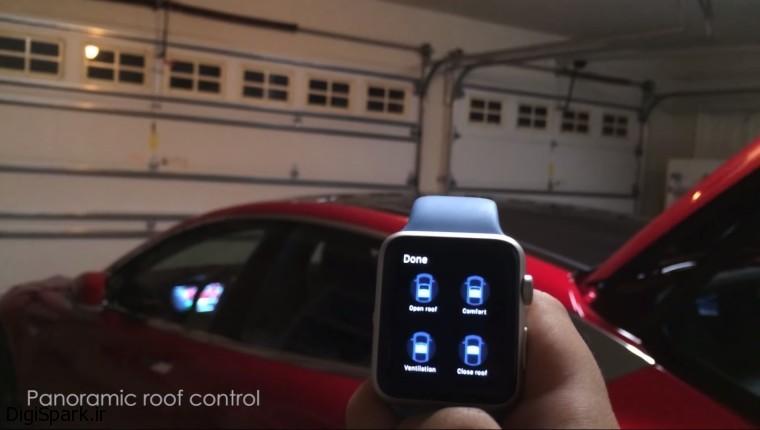 کنترل خودرو Tesla Model S با برنامه کنترل از راه دورS