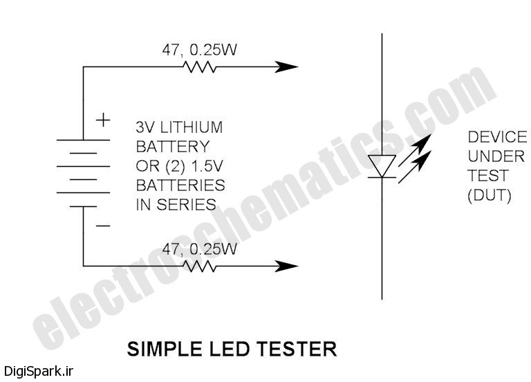 مداری برای تست LED - دیجی اسپارک