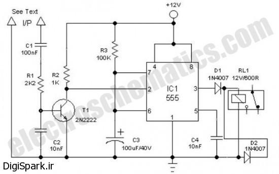 ساخت مدار کنترل لامپ اتاق با زنگ ساعت - دیجی اسپارک