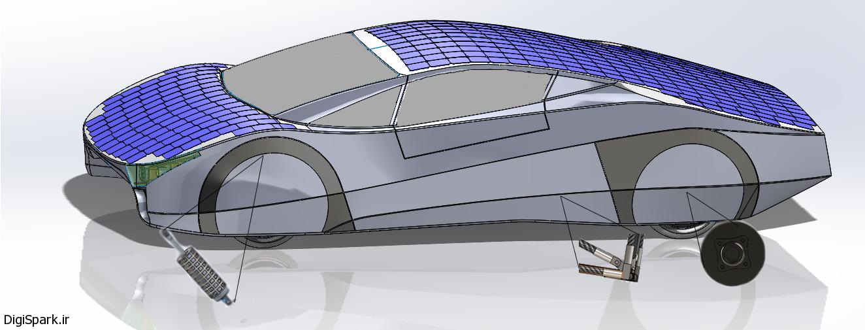 ماشین خورشیدی برای اولین بار در جهان - دیجی اسپارک