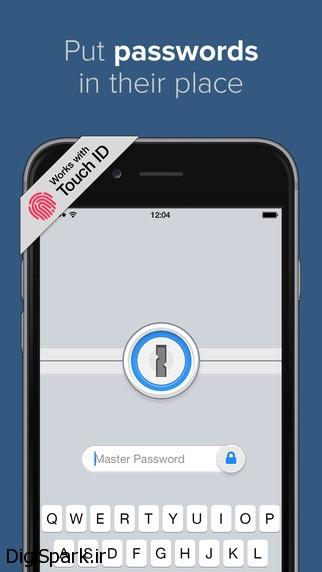 1Passwordبرای یادآوری رمز عبور در گوشی های هوشمند