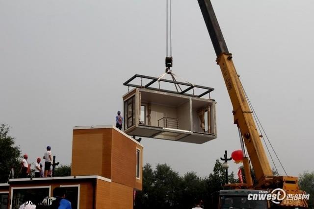 ساخت خانه با پرینتر سهبعدی در 3 ساعت