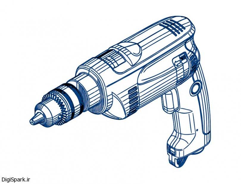 آموزش ساخت مدار کنترل دور دریل با آی سی 555- دیجی اسپارک