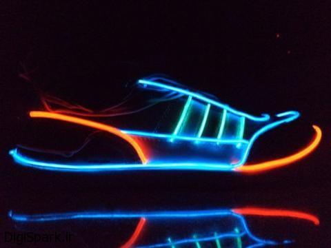 خلاقیت از نوع الکتریکی ، کفش الکترو فلورسنت - دیجی اسپارک