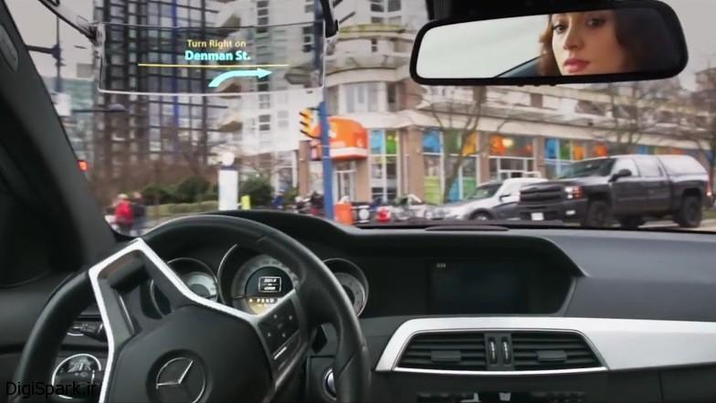 سیستم Iris HUD به جای آفتابگیر شیشهی جلوی سمت راننده