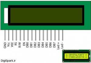 آموزش جامع راه اندازی LCD کاراکتری - دیجی اسپارک