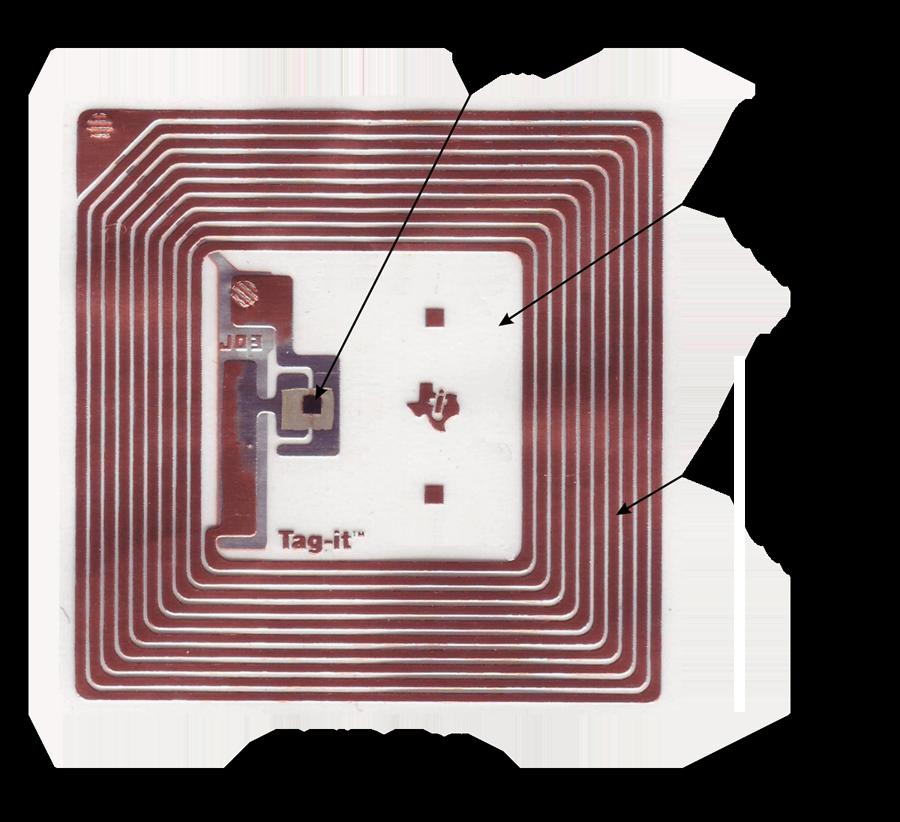 نمایی از تگ RFID