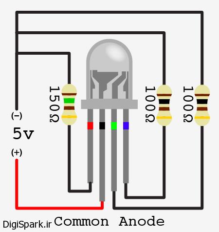 RGB LED آند مشترک