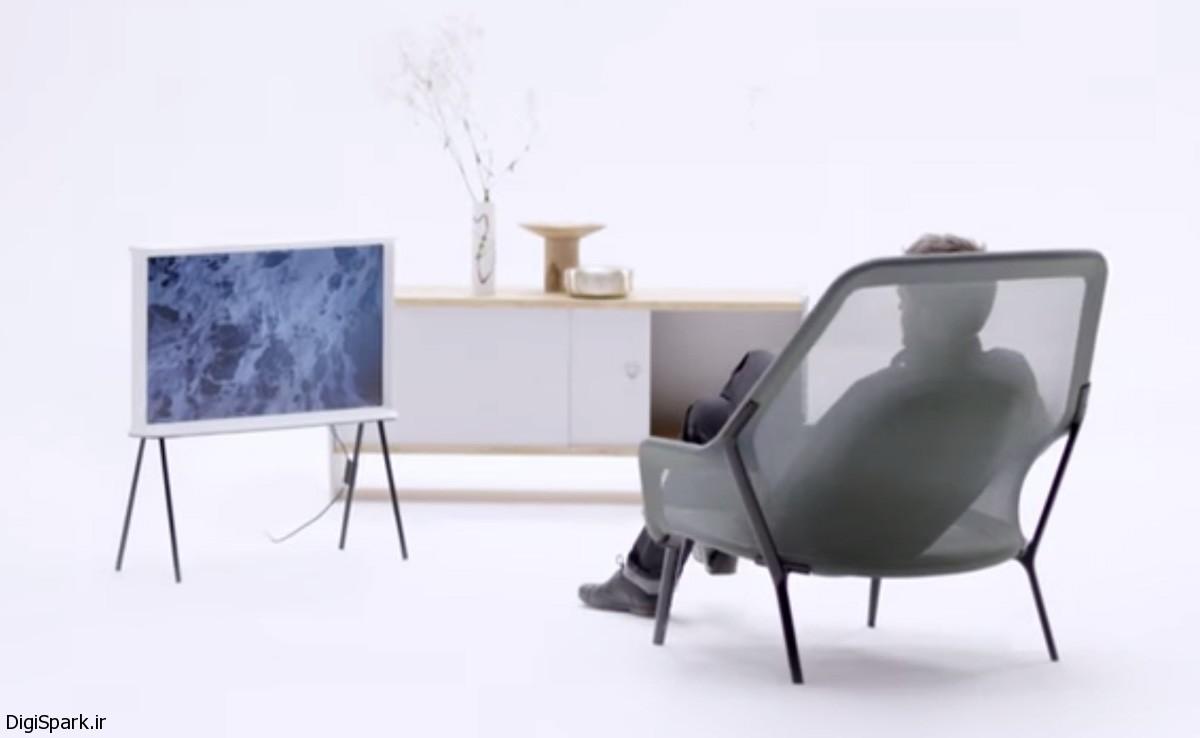 تلویزیون Serif TV سامسونگ با صفحه نمایش پهن