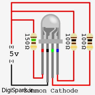 RGB LED کاتد مشترک