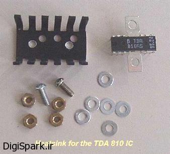 مونتاژ قطعات آمپلی فایر با آی سی TBA810