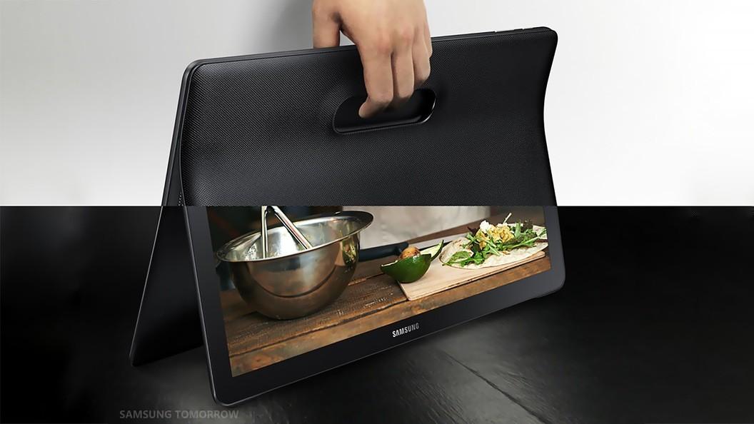تبلت سامسونگ با صفحه نمایش 18/4 اینچی