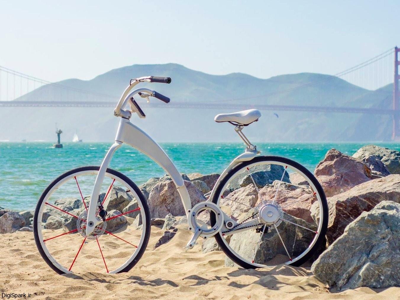 دوچرخه Gi FlyBike با قابلیت تاشدن و شارژ گوشی هوشمند