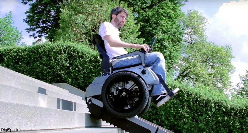 ویلچر Scalevo با قابلیت بالا رفتن از روی پله