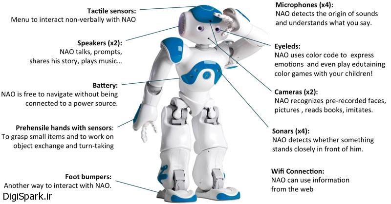 مشخصات ربات NAO