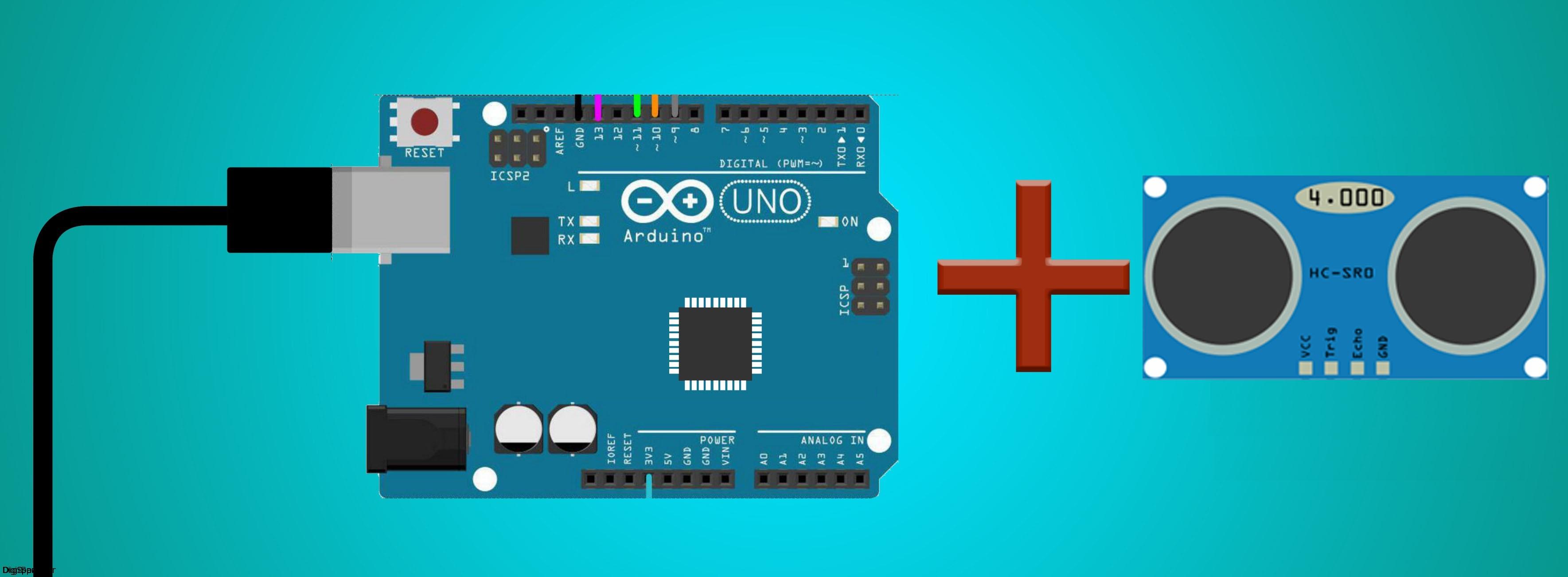 Arduino UNO - SRF05-Digispark