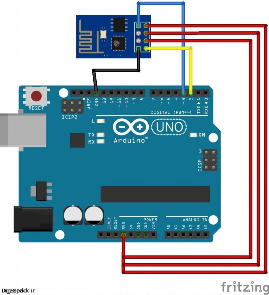اتصال ماژول wifi esp8266 به آردوینو