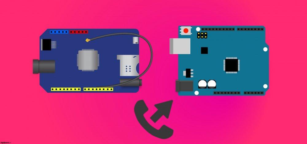 آموزش ایجاد تماس با شیلد Sim800C آردوینو - دیجی اسپارک