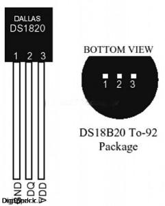 DS18B20-دماسنج دیحیتال-آردوبنو