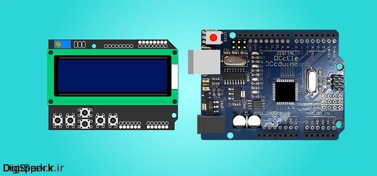 شلد lcd shield آردوینو arduino کیپد keypad