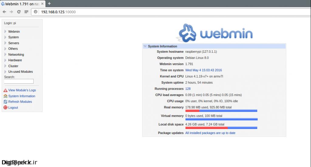 webmin-main-page