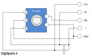 Keyes-KY-040-Rotary-Encoder-Module-Schematic