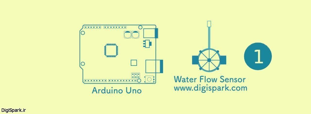 سنسور اندازه گری جریان آب yf-s201 همراه با آردوینو arduino-بخش اول