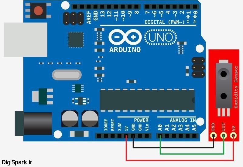 اتصال سنسور hih-4030 به آردوینو arduino
