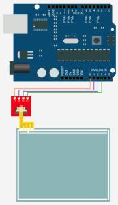 اتصال تاچ اسکرین به آردوینو