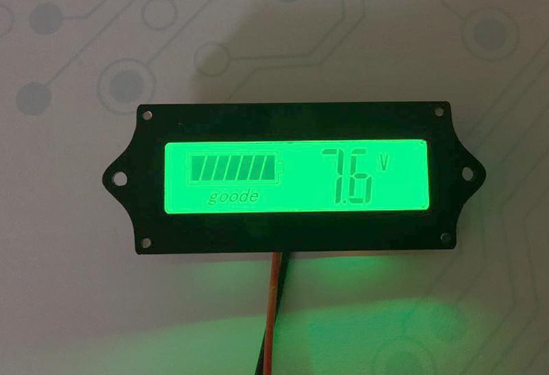 ماژول نمایشگر سطح شارژ باتری با LCD- دیجی اسپارک