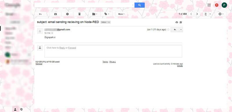 9ارسال و دریافت ایمیل در Node-RED digispark