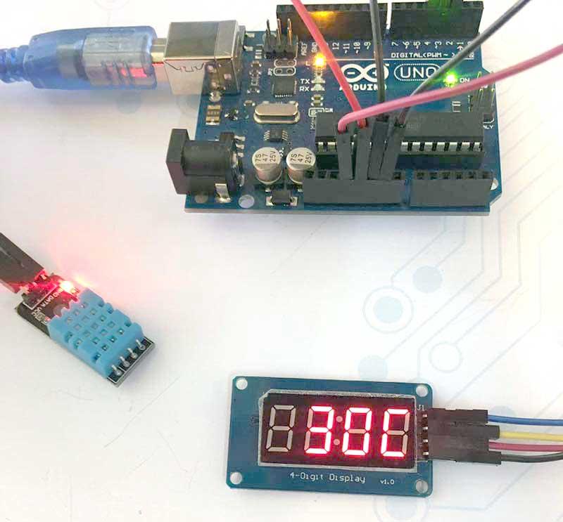 آموزش ساخت دماسنج و رطوبت سنج دیجیتال با -سنسور-DHT-TM1637