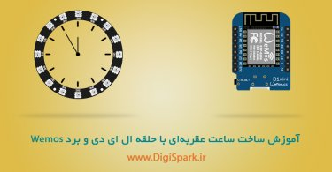 Wemos-d1-mini-lED-ring-Clock-Digispark