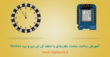 Wemos-d1-mini-lED-ring-Clock-Digispark