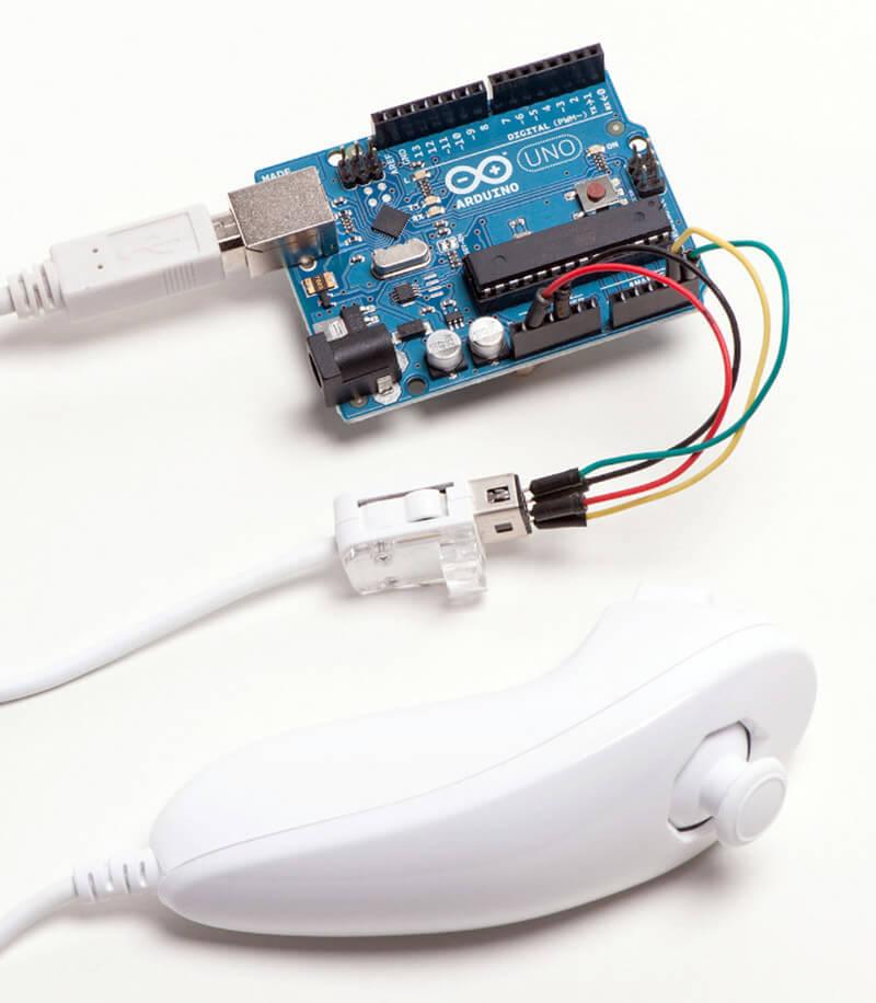 آموزش اتصال کنترلر کنسول بازی نینتندو Nintendo Wii Nunchuk به آردوینو -دیجی اسپارک