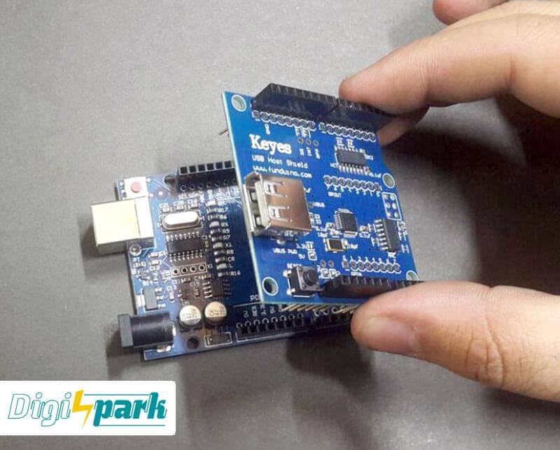 آموزش اتصال mouse به آردوینو Arduino Uno توسط شیلد Usb host -دیجی اسپارک