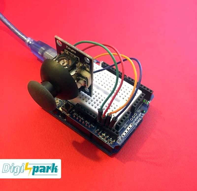 آموزش راه اندازی ماژول جوی استیک JoyStick پکیج 37 سنسور آردوینو -دیجی اسپارک
