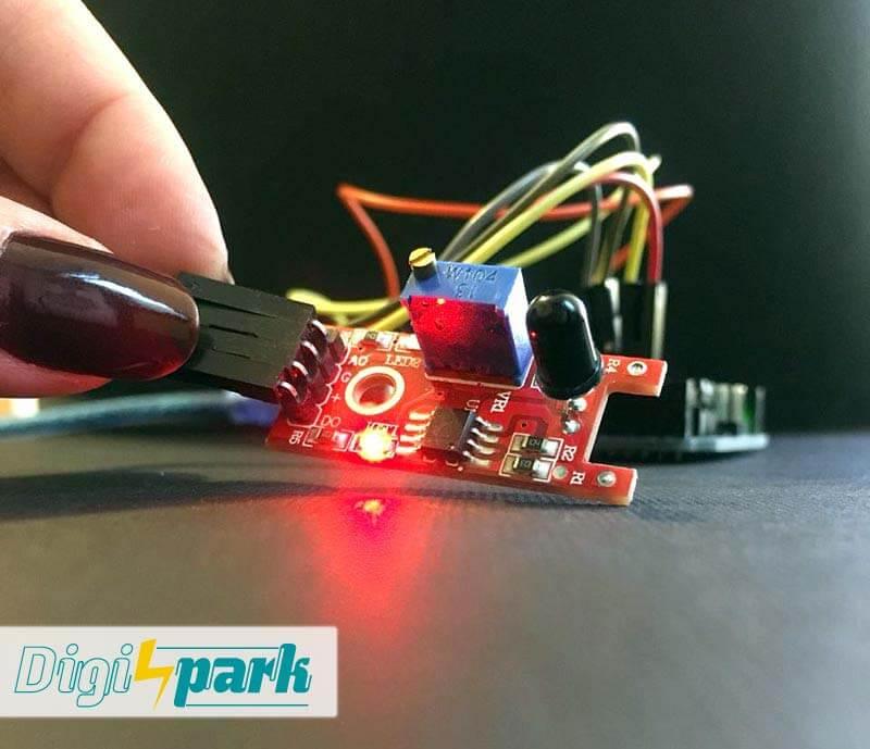آموزش ماژول تشخیص شعله Flame Sensor از پکیج 37 سنسور آردوینو- دیجی اسپارک