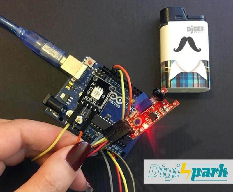 آموزش ماژول تشخیص شعله Flame Sensor از پکیج 37 سنسور آردوینو دیجی اسپارک