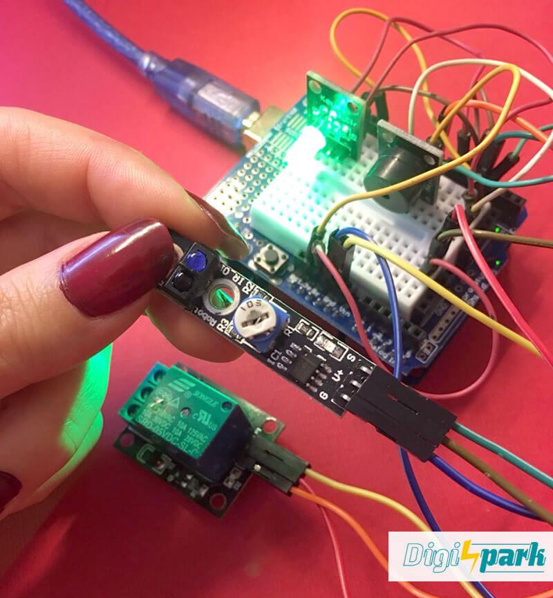 آموزش ماژول تشخیص مانع IR Tracking Module پکیج 37 سنسور آردوینو -دانشجو کیت