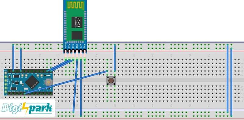 مدیریت برد رزبری پای RPI توسط برد آردوینو Arduino از طریق بلوتوث BT دیجی اسپارک