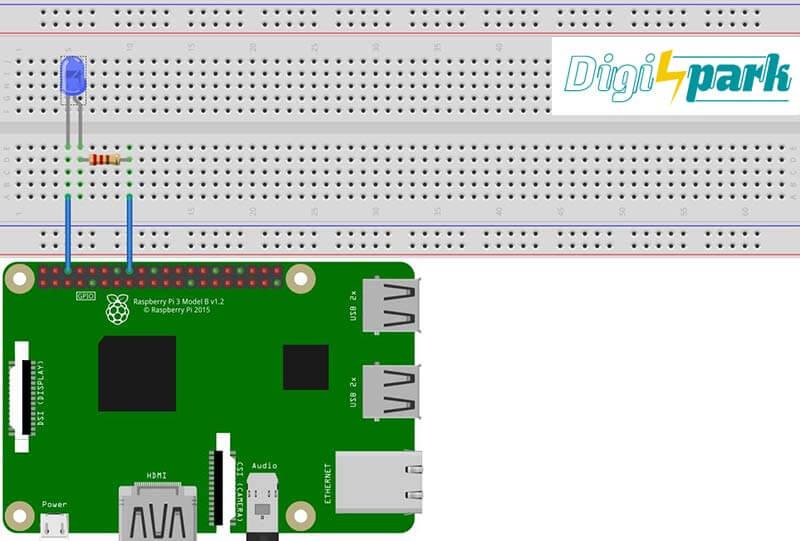 مدیریت برد رزبری پای RPI توسط برد آردوینو Arduino از طریق بلوتوث BT-دیجی اسپارک