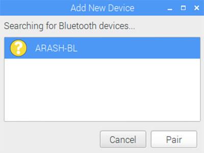 2مدیریت برد رزبری پای RPI توسط برد آردوینو Arduino از طریق بلوتوث BT-دیجی اسپارک