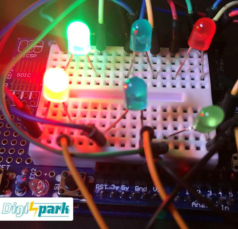 اتصالات مدار چراغ راهنمایی رانندگی با آردوینو - دیجی اسپارک