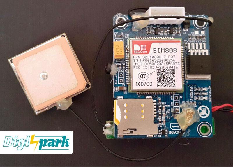 آموزش ساخت دستگاه ردیاب GPS ماژول SIM808 نمایش نقشه دیجی اسپارک